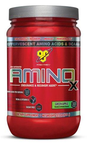 AMINO X de BSN - manzana verde, 15,3 onzas, 30 porciones