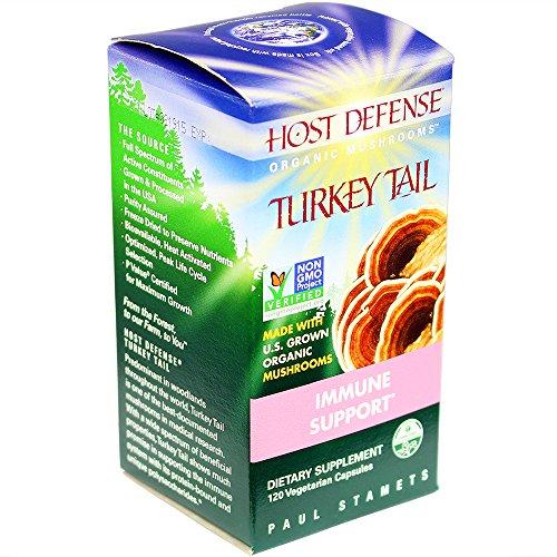 Host Defense® cápsulas de Turquía de cola, apoyo inmune, cuenta 120