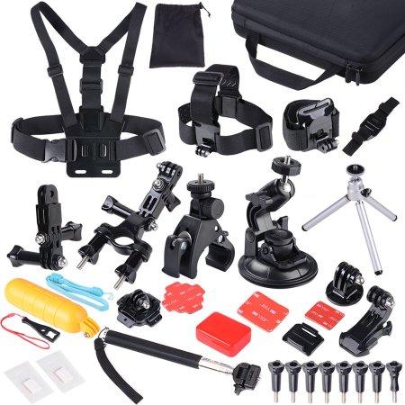 47 en 1 cámara al aire libre Accesorios Sport Kit w / bolsa para GoPro HD Hero 4 3 2 3 + 1 soporte del trípode del montaje Conjunto