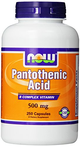AHORA alimentos pantoténico ácido 500mg, 250 cápsulas