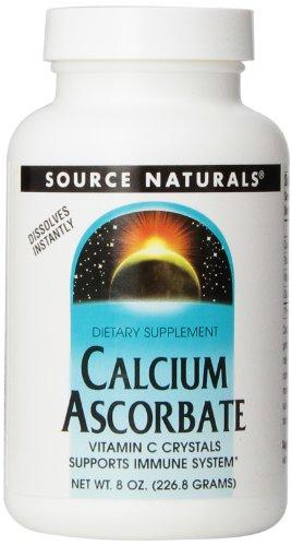Source Naturals calcio ascorbato de cristales, 8 onzas