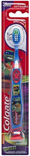 Colgate cepillo de dientes de Teenage Mutant Ninja tortugas, con Copa de succión, a los niños Extra suave (paquete de 6)