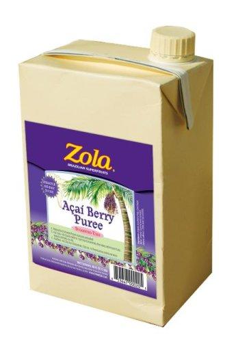 Zola superfrutas brasileña Acai Berry puré, cajas de 46 onzas (paquete de 6)