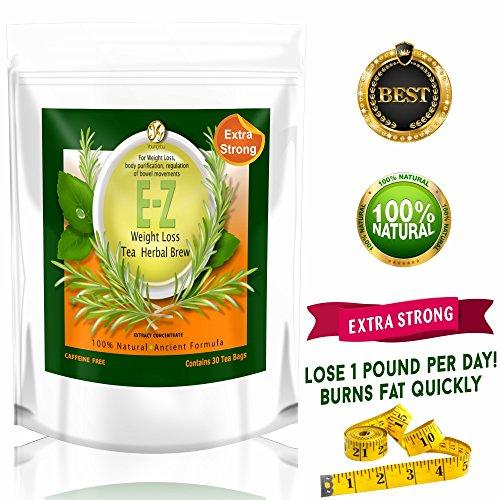 Té de la dieta de desintoxicación E Z - Control del apetito, pérdida de peso Natural, cuerpo de limpiar. Una libra de un té de dieta de pérdida de peso de día probado