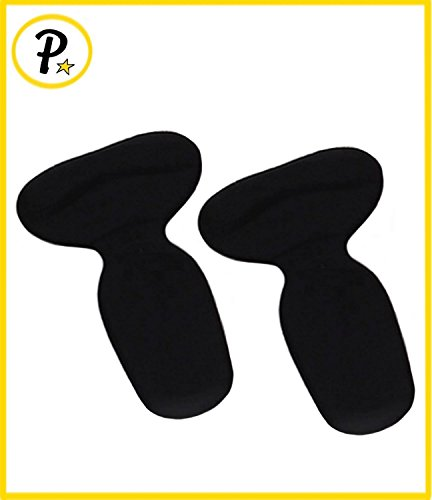 Presadee® talón de pie agarre forro Gel acolchado zapato apretado prevenir ampollas dolor antideslizante con soporte de arco de colchón (negro)