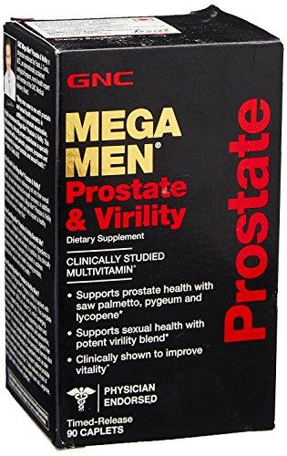 GNC GNC MEGA MEN próstata & virilidad 90 CAPS solo y MULTI PACKS (un frasco de 90 cápsulas)