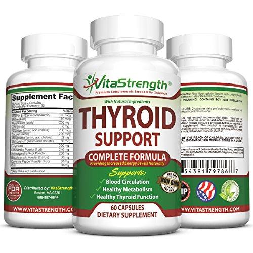 Soporte de tiroides Premium - fórmula completa para ayudar a perder peso y mejorar la energía con yodo, fucus, Kelp, B12 y más - mejores suplementos de tiroides para el hipotiroidismo y la alternativa a la armadura de la tiroides