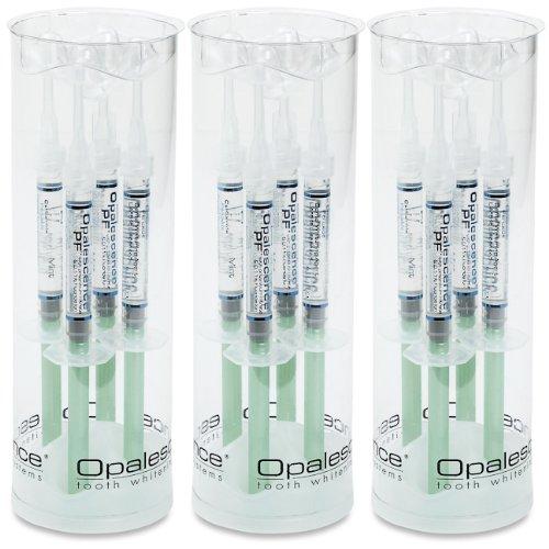 Opalescence PF 35% blanqueamiento dientes 12pk de jeringas de sabor de menta (garantizado fresco)