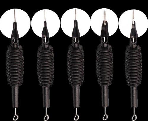 Desechables de 100 piezas tatuaje aguja y tubo 3/4 Grip RL/RS/M1