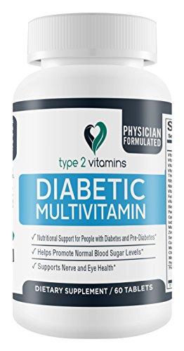 Tipo 2 vitaminas diabetes multivitamínicos - 60 comprimidos - apoyo nutricional para la Diabetes y prediabetes