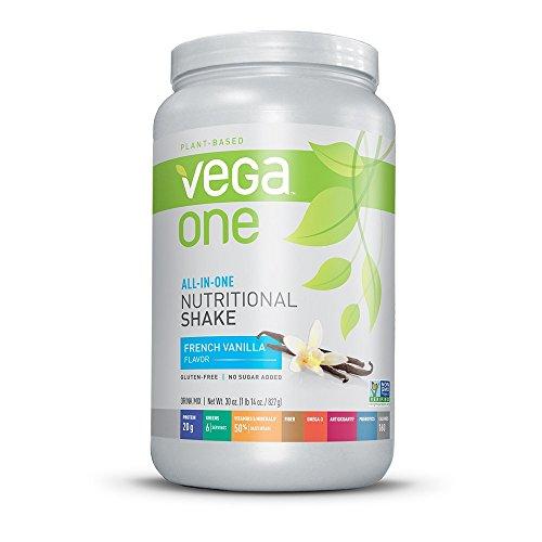 Vega uno todo en una tina de batido nutricional, French vainilla, grande, onza 29,2