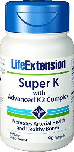 Extensión de vida Super K con avanzada K2 complejo 90 cápsulas