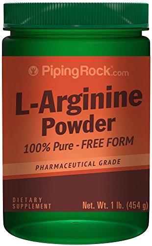 L-arginina polvo (grado farmacéutico) de 1 lb