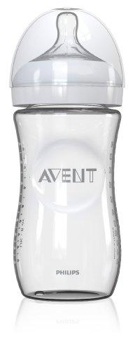 Philips Avent Natural botella de cristal, 1 cuenta, 8 onzas