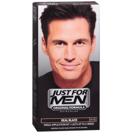 Just For Men Hair Color H-55 Real Black 1 Each (Pack of 4)