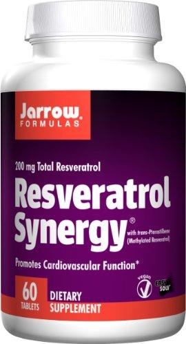 Jarrow Formulas Resveratrol sinergia 200, 60 comprimidos