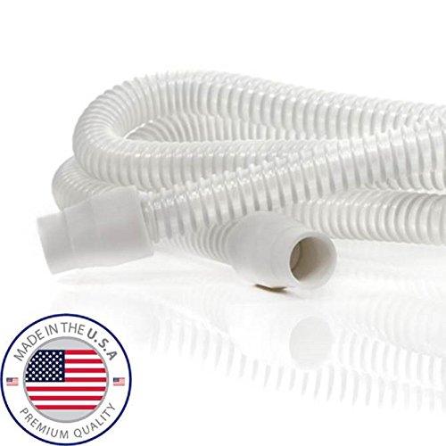 Original médica de EVA luz ultra blanca alto rendimiento CPAP/BIPAP tubería con puño ergonómico (Made in USA)