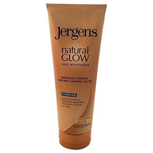 Jergens Natural resplandor reafirmante hidratante, justo a los tonos de piel medio 7,5 onzas