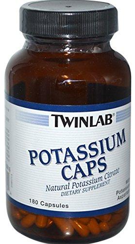 Tapas de potasio de potasio aspartato, 180 cápsulas, de Twinlab
