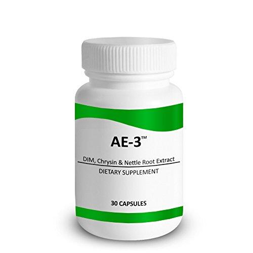 Crisina con DIM y urticantes de la ortiga raíz extracto - AE-3 - aromatasa Natural inhibidor y bloqueador de estrógeno para hombres - con Piperine para mejorar absorción - 30 cápsulas