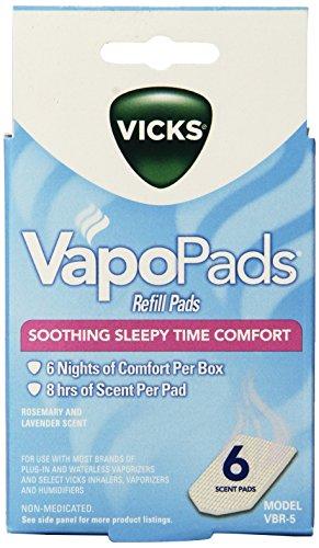 Almohadillas aromáticas de Vicks Sleepytime vaporizador sin agua