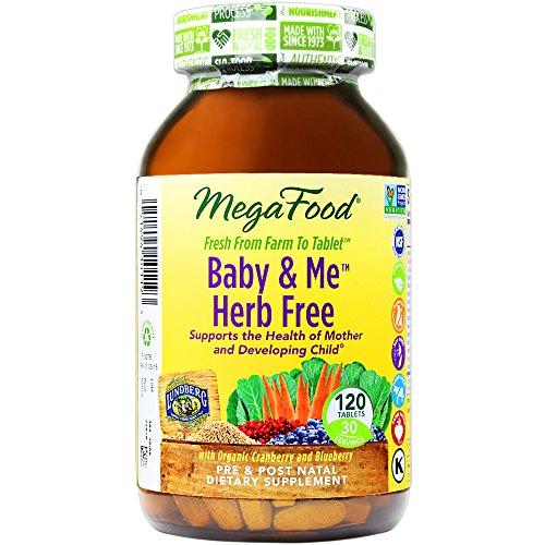 MegaFood - bebé y Me hierba libre, apoya la salud de una mujer y su bebé durante el embarazo, 120 tabletas (envasado de alta calidad)