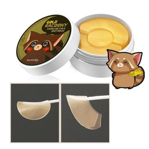 Clave secreta - oro Racoony - 90 x ojo hidro Gel y parches de punto - Anti arrugas - espinillas
