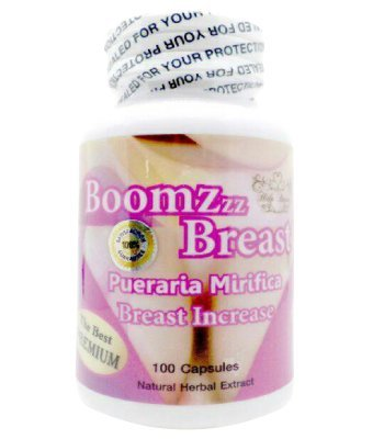 El mejor Premium BoomZzz mama aumento pecho Pueraria Mirifica polvo extracto 100% orgánico con Natural Herbal 100 cápsulas vegetarianas