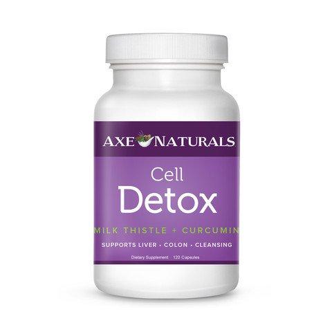 El Dr. hacha-CELL DETOX - suplemento-digestión, concentración, pérdida de peso, metabolismo-con cardo de leche, L-glutation, superóxido dismutasa, curcumina, BioPipernine, Chlorella y más-60 cápsulas