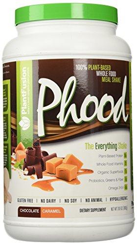 Comida completa basada en reemplazo libre de Gluten, sin lácteos, No Soy ningún Animal de la planta, hipoalergénico Phood Net Wt oz 31,8 Chocolate caramelo