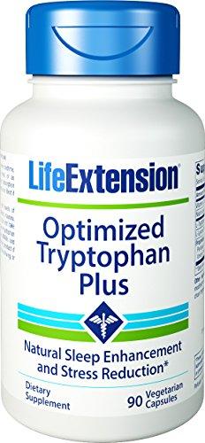 Extensión de vida optimizado Tryptohan Plus cápsulas vegetarianas, cuenta 90