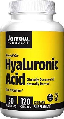 Jarrow Formulas ácido hialurónico, hidratación de la piel, Veggie 120 Caps