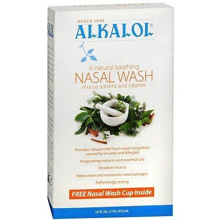 Alkalol Nasal Wash Mucus Disolvente y limpiador oz fl 160 (paquete de 2)