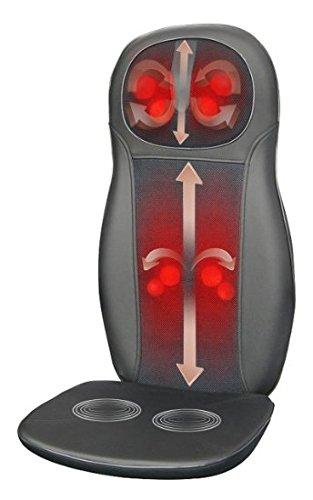 Cuello Zyllion ZMA-14-BK Shiatsu y masaje de espalda Cojín con calor (negro)-un año de garantía