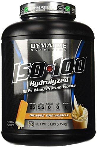 Dymatize ISO100 hidrolizado 100% Whey proteína aislado Dreamsicle naranja--5lbs