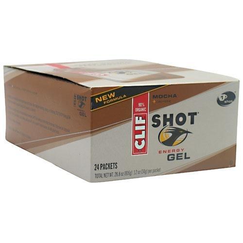 Clif Shot Gel Mocha, 1,2 oz paquete, 24-cuenta