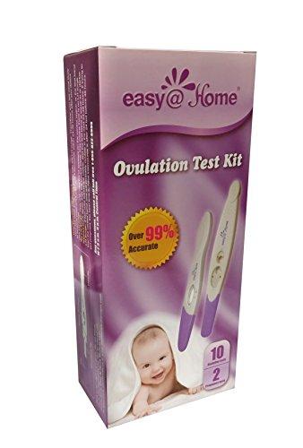 Easy@Home 10 pruebas de la ovulación (LH) más 2 pruebas de embarazo (HCG) - palillos de la prueba