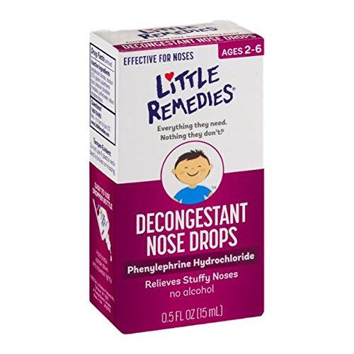 Poco narices nariz descongestionante gotas, niños 2 +, 0.5 Oz Fl (paquete de 6)