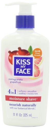 Beso mi cara humedad afeitado, pomelo de Granada, 11 onzas de líquido