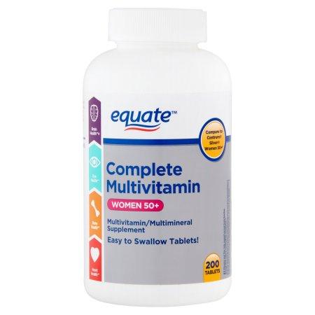 equate multivitamina completa de las mujeres mayores de 50 años de multivitaminas - multiminerales Suplemento 200 ct