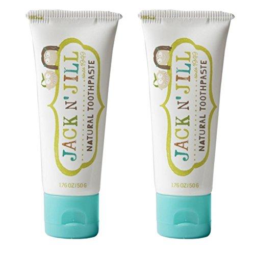 Jack N' Jill Natural pasta de dientes, arándano, 1,76 oz (paquete de 2)