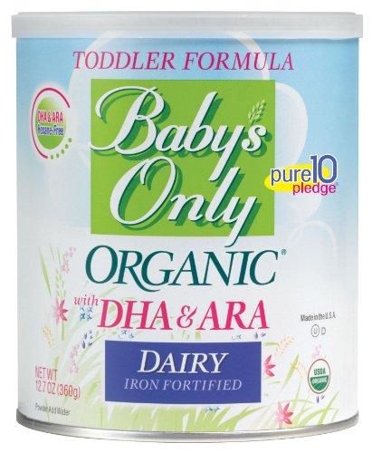 Productos lácteos sólo orgánico del bebé con DHA y ARA fórmula, 12,7 onzas