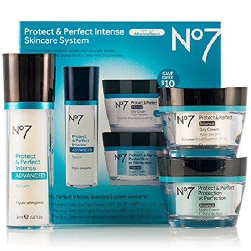 Cargadores No7 proteger y perfecto intenso avanzado Kit de sistema de cuidado de la piel