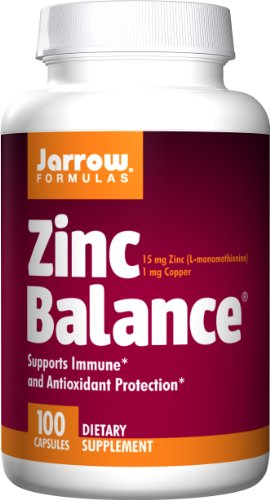 Jarrow Formulas Balance de Zinc 15mg, 100 cápsulas (paquete de 3)