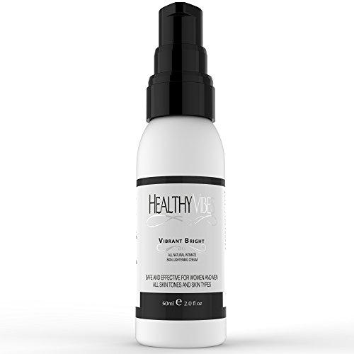 Vibrante brillante relámpago crema sana Vibes (2 oz) - tratamiento para lunares, manchas, pigmentación - caja de seguridad para zonas sensibles - ingredientes naturales y libres de hidroquinona para blanquear la piel