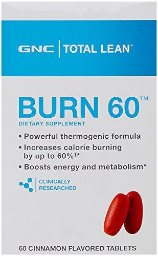 GNC Total quemar canela suplemento nutricional con sabor, cuenta 60