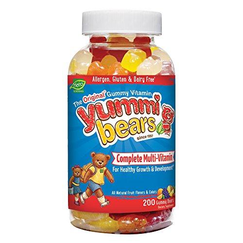 Yummi osos multi vitaminas y minerales, conteo de 200 osos Gummy