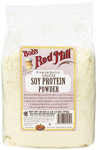 Molino rojo Gluten libre soja proteína en polvo de Bob, 28 onzas (paquete de 4)