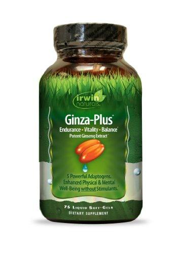 Irwin Naturals Ginza más resistencia, energía, equilibrio suplemento dietético Gel líquido tapas, 75-Conde botella