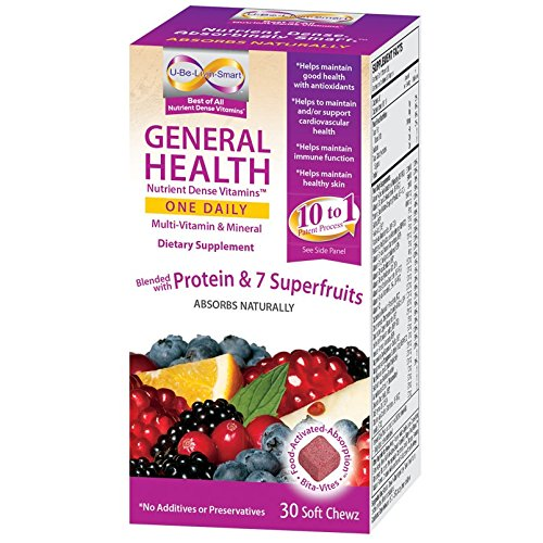 U-ser-estar-Smart salud vitaminas densos nutrientes uno diario (multi vitaminas y minerales con el suplemento de CoQ10 Deitary) Bleneded con proteína y 7 superfrutas
